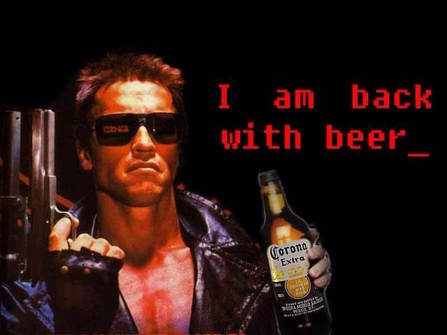 вернусь с пивом