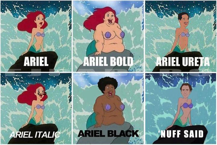 черная русалочка мем