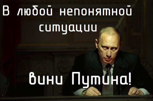 В любой непонятной ситуации вини Путина!